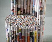 Újságpapírból - Bútor