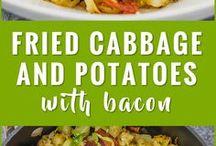 cabbage, potato and bacon