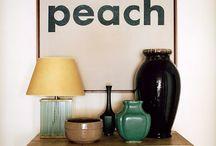 peach powder room