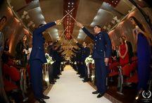 Casamento militar / Casamento com honras militares. Teto de aço.