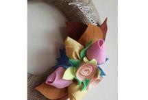 kapısüsü / pelibon@outlook.com #kapısüsü #kapıçelengi #rose #pink #handmade #keçe #felt #feltro