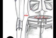 Croquis denim/jeans