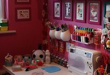 sewing, craft, home school room / Ideas for our work shop and sewing room and craft room, homeschool room