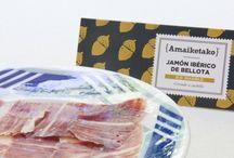 De la granja / Amaiketako selecciona para ti los mejores productos de la granja; foie gras, paté, embutidos y quesos,  para que disfrutes con tus amigos o familia en casa o dónde quieras.