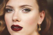 Red, wine lips