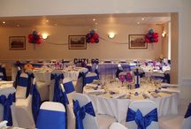 sapphire & royal blues / sapphire blue & royal blue venue dressing & balloon decor