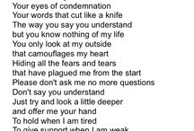 MY POEMS / These are poems I have written and I hope they help someone know they aren't alone if they feel like any of these poems. We all go through hard times, we just can't live in them we must overcome them!