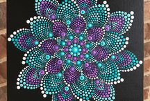 Kleuren op canvas