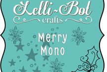 Merry Mono / One of the Lelli-Bot Crafts 2015 Christmas Kits