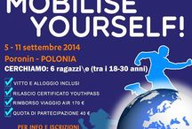 In Progress Calabria flyers / Posters and Flyers about Youth Exchanges and Training Courses by In Progress Calabria