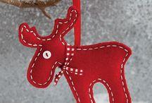 Karácsony filc díszek