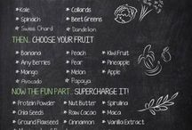 Healthy snacks and smoothies