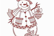 Redwork Navidad.....
