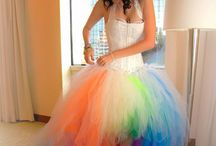 Color wedding dress