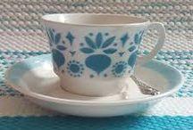 Arabian vanhat astiat / Old tableware by Arabia, Finland