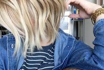 Sarı orta boy saç