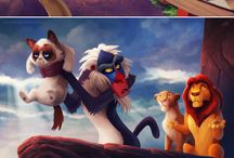Cats dress up as Disney people