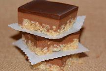 Caramel Peanut Butter Krispie Bars