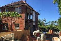 Castlecrag, NSW - renovation / Work in progress for renovation of a two-storey post war home in Castlecrag, NSW