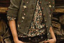 Saquito tejido y bordado