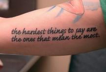Tattoos / by Stephanie Ellis