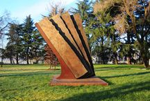 Arte all'Idroscalo: la scultura Vento di Maria Cristina Carlin / Milano, IDROSCALO - PARCO DELL'ARTE Ingresso Punta dell'Est 27 Marzo 2015 in permanenza