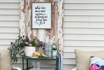 Patio and Porch Ideas / Ideas for decorating outside spaces. #patio, #porch