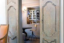 Dwuskrzydłowe drzwi przesuwne / Piękne rozwiązanie do salonu i jadalni! Inspiracje i prace własne.