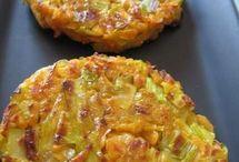 rosti  (galette de légumes ) , crêpes salées