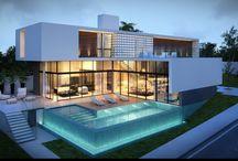 Villa facades