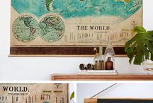 Travel Inspired Decor / Travel is in the blood and the home :-)