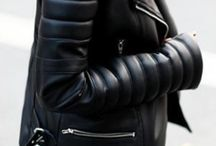 Day inspiration: Leather and metalic / *