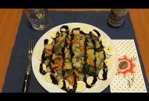Warm salad with quail eggs. Salată caldă de legume cu ouă de prepeliță. Салат с перепелиными яйцами.