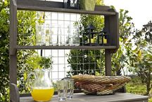 Potting Benches / Basic shelving with places for your pots, soils and tools, to built-in sinks and drawers.