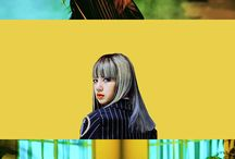 BLACKPINK / a kpop group of 4 members under YG Entertainment Jisoo, Jennie, Rosé, Lisa bias: Rosé
