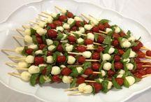 saladas no espeto