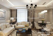 Классика английского стиля в интерьере в ЖК Доминион / Дизайн квартиры ЖК Доминион спроектирован в классическом английском стиле Анжеликой Прудниковой. Благодаря этому направлению, интерьер объединил в себе лондонскую сдержанность и статность. Дизайн - проект преобразил квартиру в ЖК Доминион, сделав её стильной, изысканной, а самое главное комфортной для жизни.