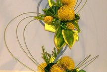 Flower show arrangements