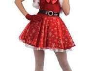 Christmas Costumes / Santa costumes, elf costumes, reindeer, Christmas hats, angel costumes, angel wings, elf shoes, striped stockings.