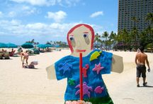 Hawaii via Flat Stanley / Enjoy beautiful Hawaii with Flat Stanley.  Special thanks to my wonderful sister for taking these great pictures for my son's Flat Stanley project last year.