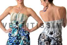 Vestitino miniabito donna tutina estiva prendisole pagliacetto spiaggia Vs11