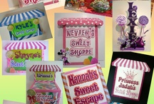 Candy Themed Parties / Deliciously fake candy and fun party signs and centerpieces