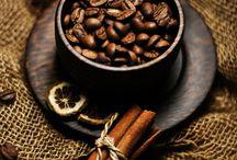 Káva jako pozadí