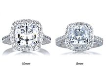 Cushion Cut Engagement Rings / Zeghani, Natalie K, bridal design cushion cut engagement rings