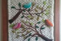 tapiz decorativo en fieltro