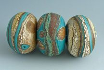polymer clay beads and buttons