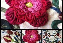 3-d flower quilt