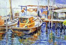 peintures bateaux / Les bateaux en peinture. Pour les amateurs de tous les bateaux.