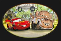 Boy's Room Mural with characters from Cars, Toy Story, Fireman Sam and Thomas the Tank