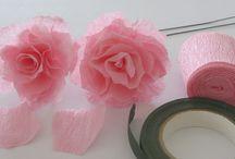 Paper decor / art / tissue paper, paper flowers,  garlands,  crepe paper, etc